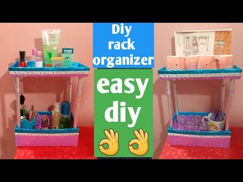 cardboard box organizer /  shoe box organizer / multipurpose rack diy