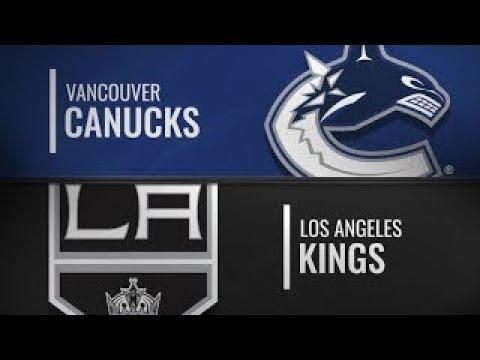 NHL 19 PS4. Preseason Game: Vancouver CANUCKS VS Los Angeles KINGS. 09.24.2018. (NBCSN) !