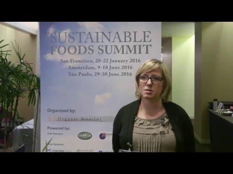 Tia Loftsgard, Fairtrade America, Sustainable Foods Summits NA 2016