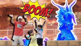 유니와 미니 할아버지와 함께 키즈카페 미끄럼틀 놀이터 핸드폰 놀이 color slide playground for kids & children   Romiyu Vlog