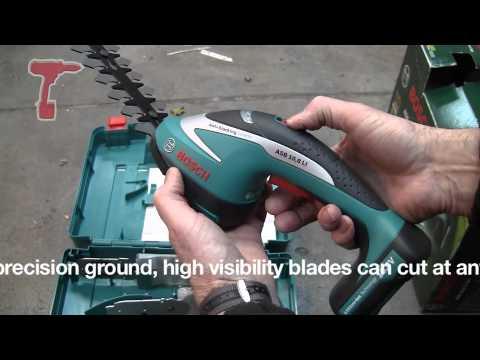 Видео обзор: Кусторез BOSCH ASB 10,8 LI (3 ножа: 10,11,20 см)