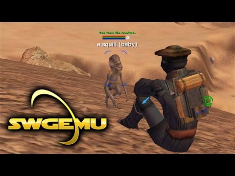 Star Wars Galaxies Gameplay – Baby Bantha and Squill Taming (Creature Handler – SWGEmu Basilisk)