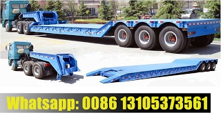 Download Video Removable and Detachable Hydraulic Gooseneck Low Bed Trailer MP3 3GP MP4