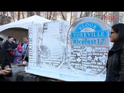 150 aniversario de Canadá con esculturas de hielo