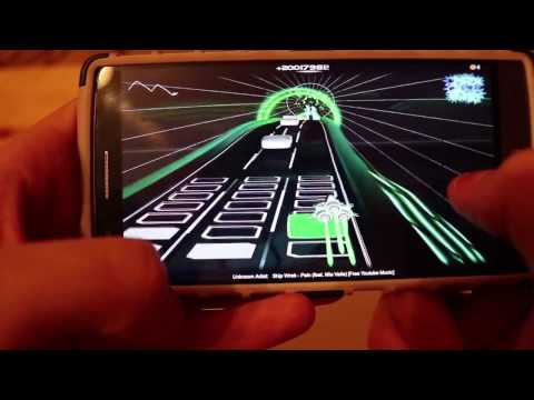 AudioSurf Android Phone Gameplay