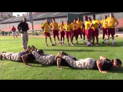 Marine Corps Team-Building Exercises with USC Women's Basketball