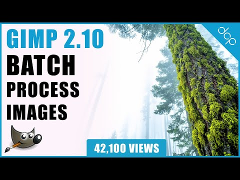 GIMP 2.10 Tutorial - How To Batch Process Images - [ GIMP Beginners Tutorial ]