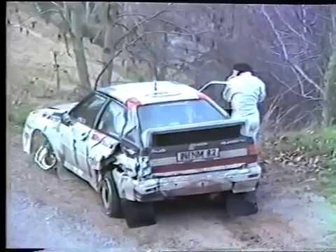 Crash Michele Mouton and Fabrizia Pons, WRC Rally Monte-Carlo 1983