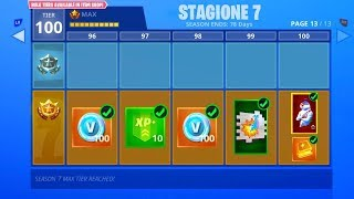 """REVEALED THE PASS BATTLE SEASON 7 FORTNITE - Tous les skins et objets!"