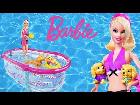 Cute Kitten Plays In Barbie Swimming Pool Doovi