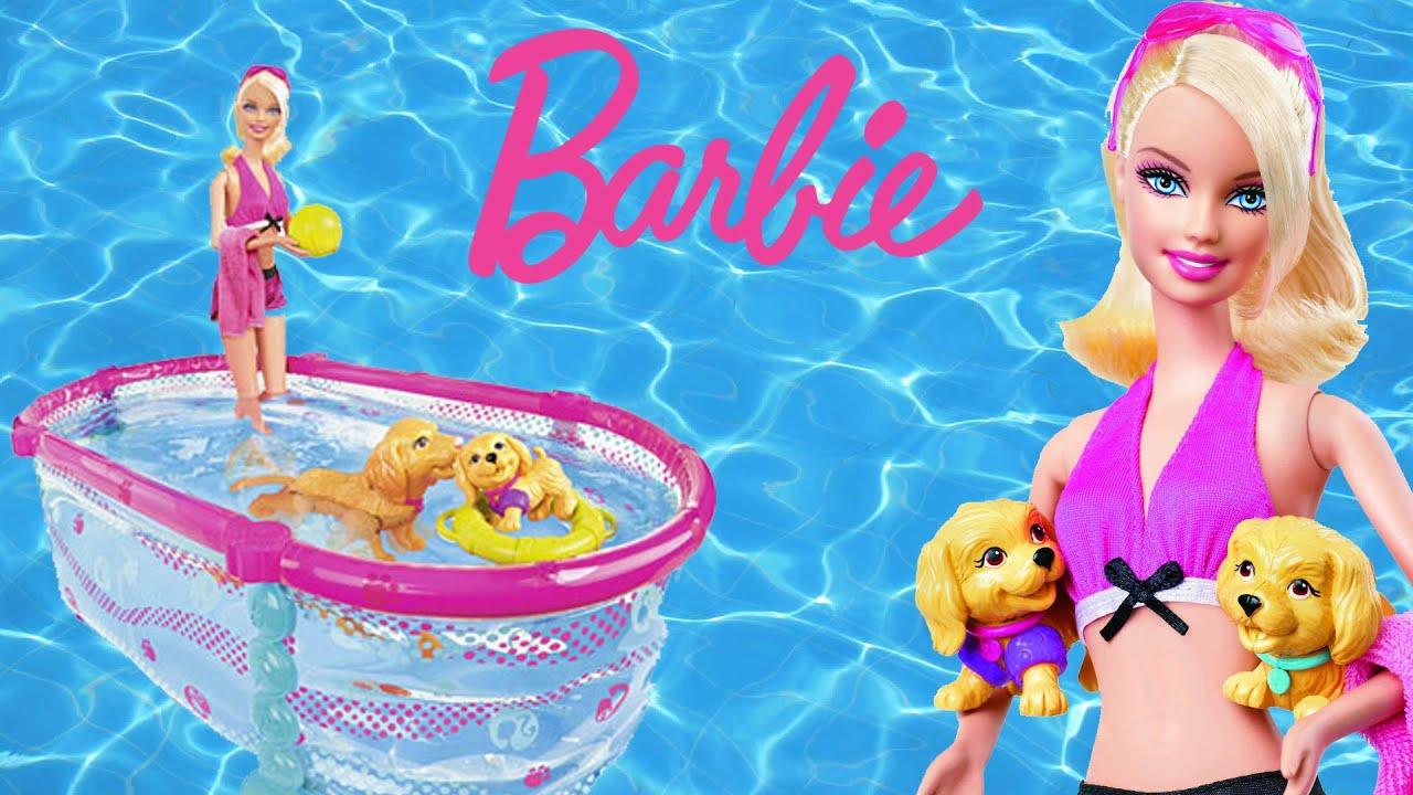 Barbie Swim School With Pool Youtube