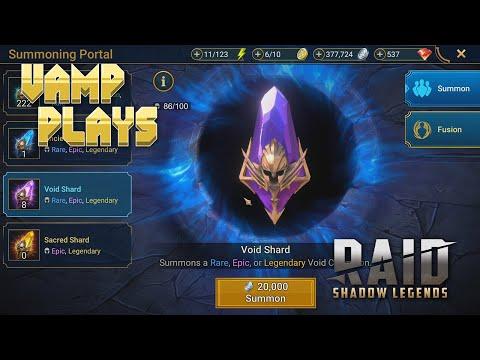 RAID: Shadow Legends | Void Shard Opening (Bad Luck?) | Vamp Plays