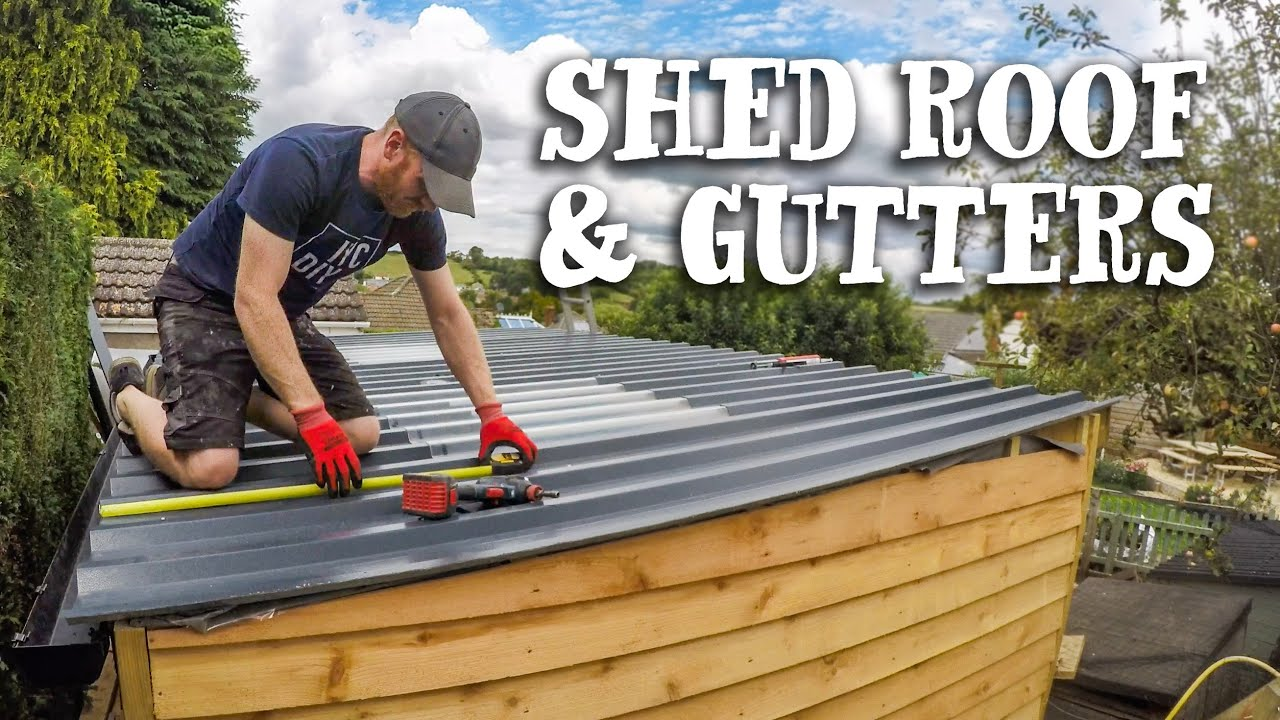 Ing The Metal Roof On Garden Shed Build How Did It Survive Winter You