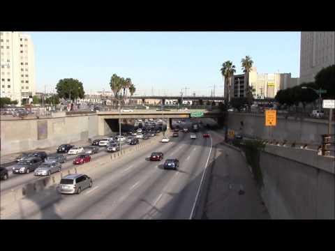 Santa Ana Freeway Exit 2A in Los Angeles 03/May/2014 サンタ・アナ・フリーウェイ、ロサンゼルス #2