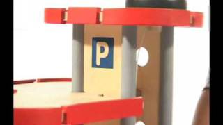 Plantoys Wooden Toy Educational Toy 6227 Parking Garage