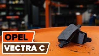 Kuinka vaihtaa etu jarrulevyt, etu jarrupalat OPEL VECTRA C -merkkiseen autoon OHJEVIDEO