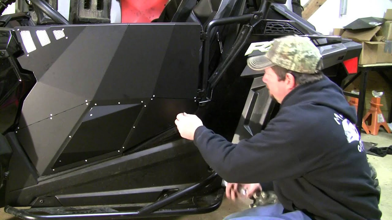 & Installing the Pro Armor stealth doors on my 2015 900S - YouTube