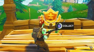 """Follow the Treasure Map Found in Snobby Shores"" Location Fortnite Week 5 Battle Pass Challenge!"