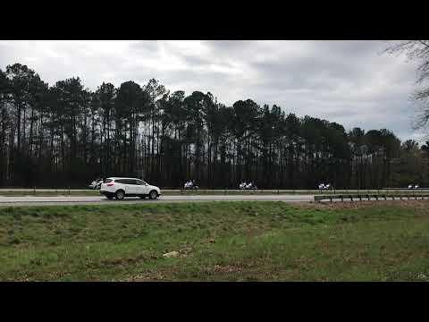 Wreck in front of President Trump's motorcade in Opelika, AL. .  Traffic median barriers work!