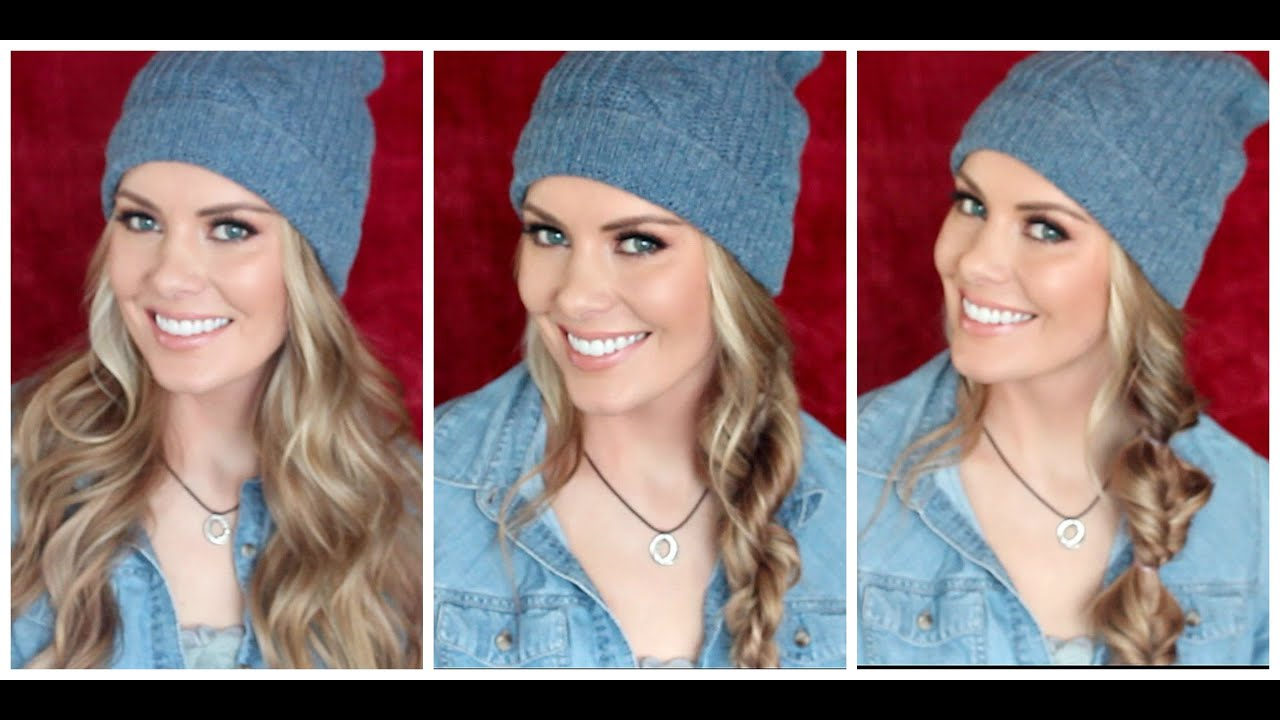 how to: 3 beanie approved hairstyles | kylee's beauty - youtube