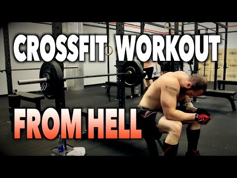 CROSSFIT WORKOUT FROM HELL! | A Powerlifters Worst Nightmare  (Pressing Poltergeist)