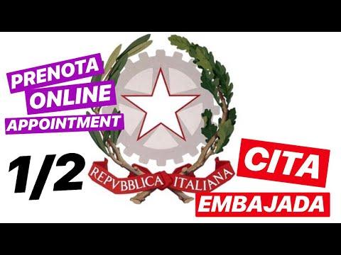 Cita para la embajada de italiana | Appointment for the embassy of italy