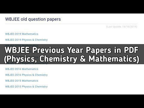 How to download WBJEE Previous Year Question Papers