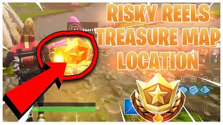 """""""Follow the Treasure map found in Risky Reels"""" MAP LOCATION - Season 5 Week 1 Fortnite Challenges!"""