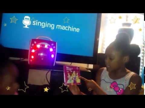 Kids Singing Machine Karaoke Girls Pink Edition -Disney Princess Music Box