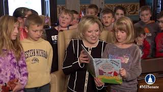 Sen. O'Brien speaks on the importance of March is Reading Month