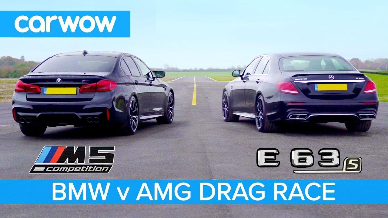 Bmw M5 Competition Vs Mercedes Amg E 63 S Drag Race Rolling Race