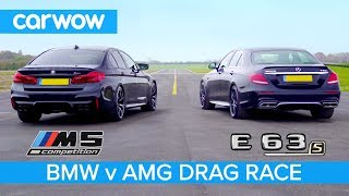 BMW M5 Competition vs Mercedes-AMG E 63 S - DRAG RACE, ROLLING RACE & BRAKE TEST