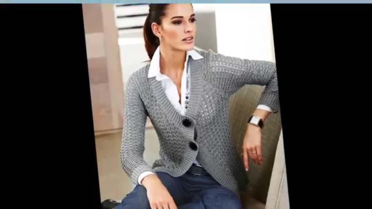 Модное вязание для женщин Вязаные кофты - YouTube