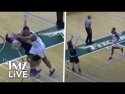 Vicious College Basketball Attack | TMZ Live