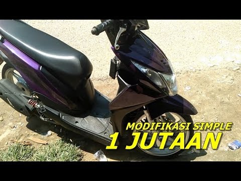 Modifikasi Motor Mio Sporty Warna Ungu Blog Motor Keren