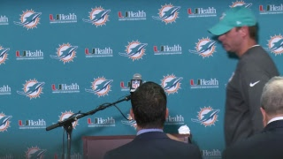 Dolphins Live: Coach Gase meets with the media.