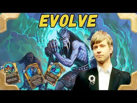 Savjz tries  Evolve shaman deck version (Frozen Throne)