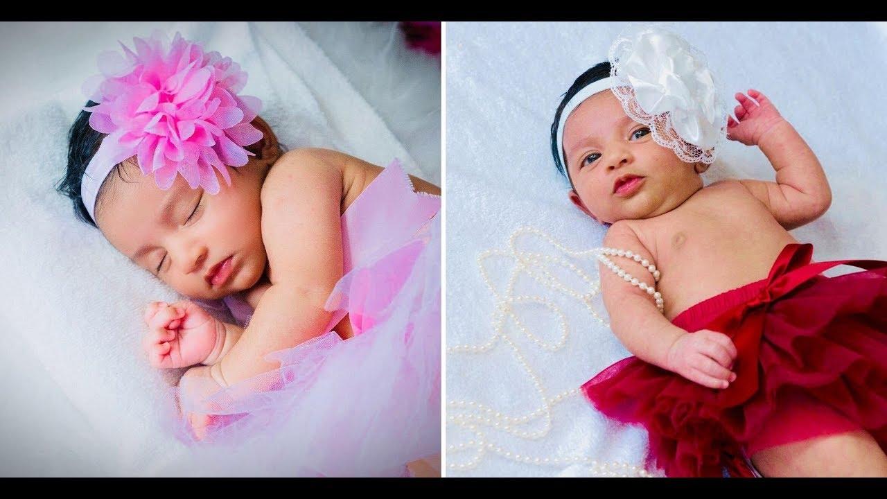 New Born Baby Photoshoot Ideas At Home/ Newborn Baby Girl Photoshoot Ideas  - YouTube