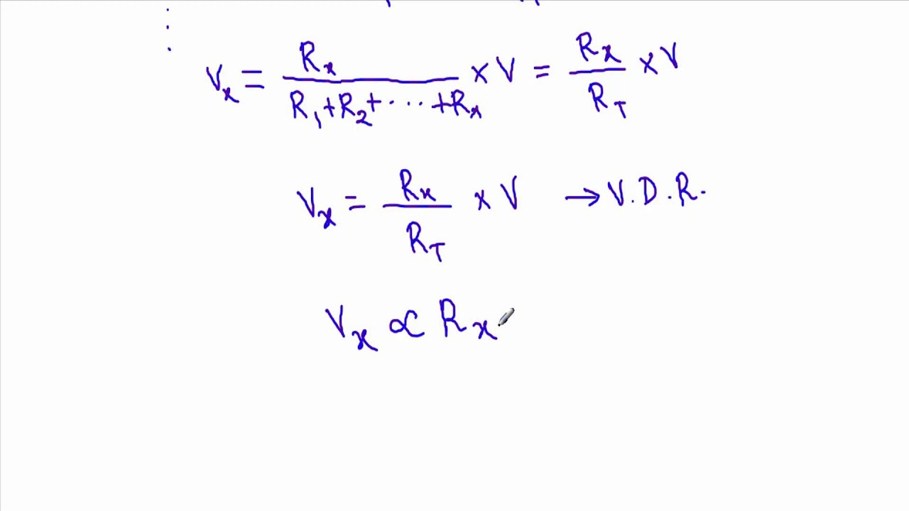 Voltage Divider Rule : Theory and Example - YouTube
