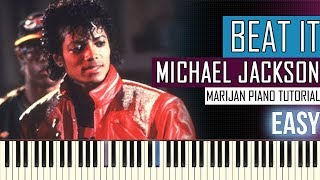 How To Play: Michael Jackson - Beat It | Piano Tutorial EASY + Sheets