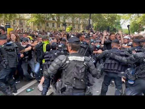 Clashes In Paris: Protest Over Wuhan Virus Passes