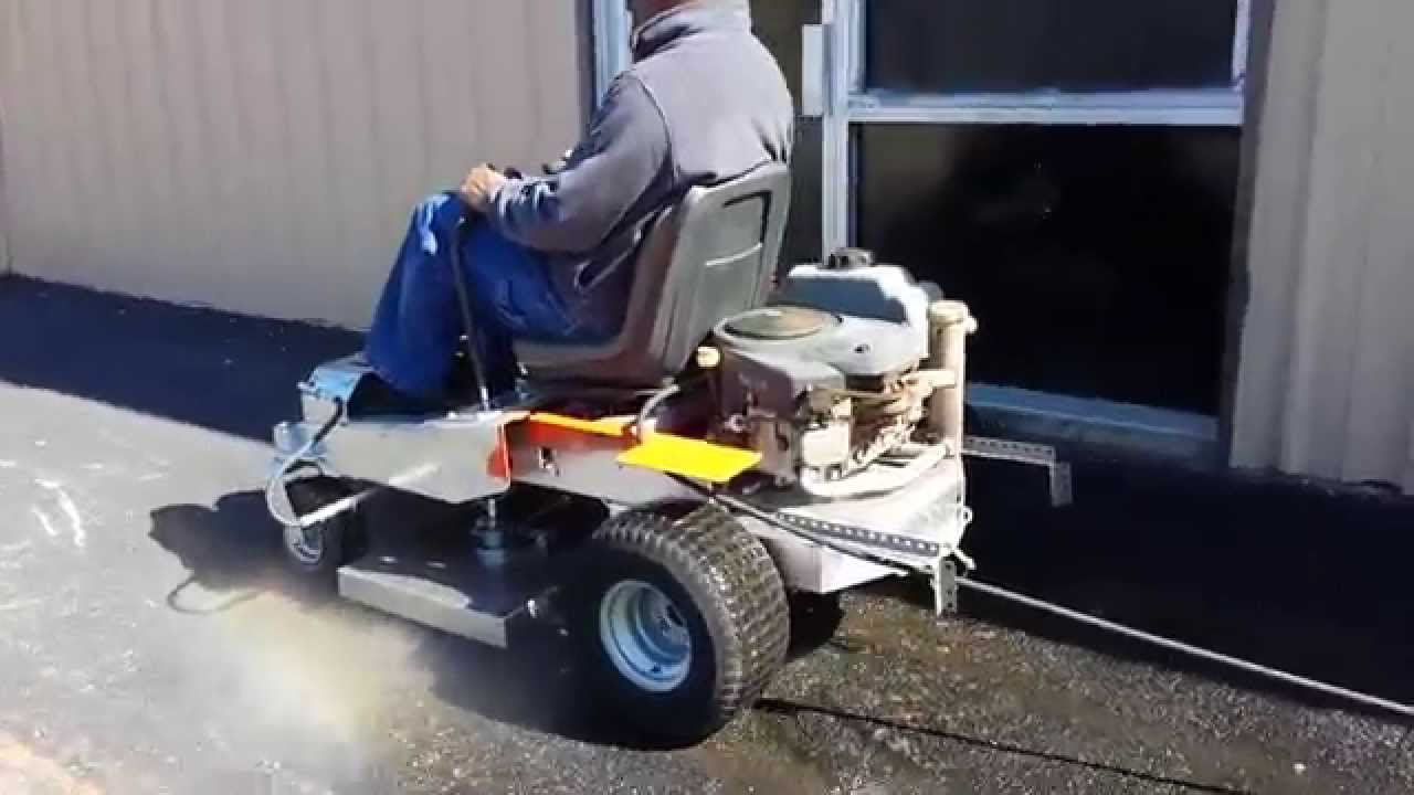 Ride On Zero Turn Surface Cleaner Youtube