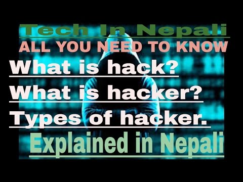 What is hacking?Types of hacker?History of hacking?Explain in Nepali