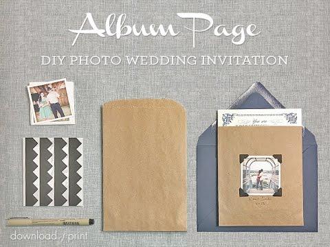 Diy photo wedding invitation album page style youtube diy photo wedding invitation album page style stopboris Gallery