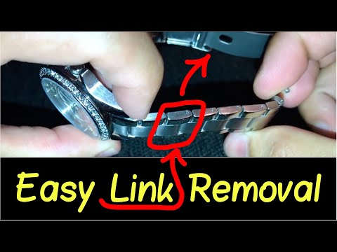 ✅How to Take a Link Out of a Watch? | ⛓ Resize Watch Band... Citizen, Guess, Fossil, Cartier etc.
