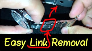 ✅How to Take a Lİnk Out of a Watch?   ⛓ Resize Watch Band... Citizen, Guess, Fossil, Cartier etc.
