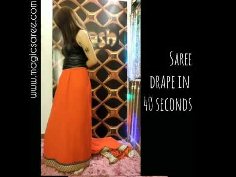 How to wear magic saree quickly