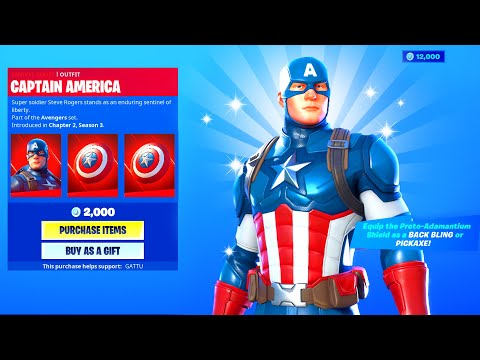 CAPTAIN AMERICA SKIN In Fortnite Battle Royale!