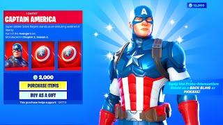 CAPTAIN AMERICA SKIN in Fortnite Battle Royale!