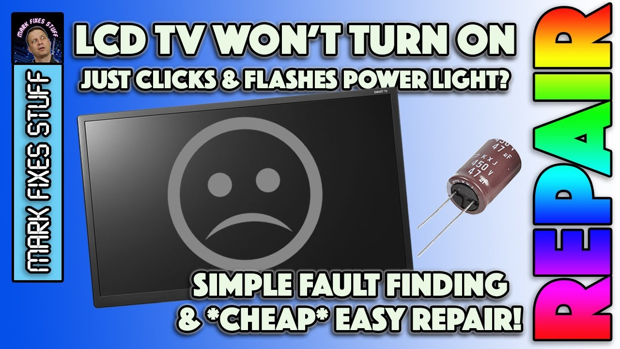 Fix Samsung TV won t turn on and just clicks Cheap repair for